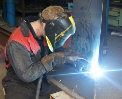 Welding--a-stringer-in-the-workshop